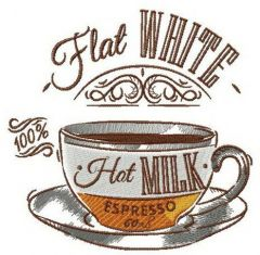 Flat white 2 embroidery design