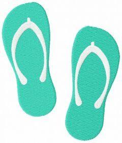 Flip Flop Sandal free embroidery design