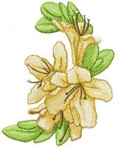 Oriental Flower embroidery design