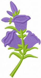 Flowers bells free embroidery design