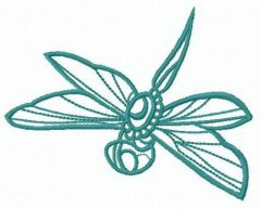 Flying dragonfly free embroidery design