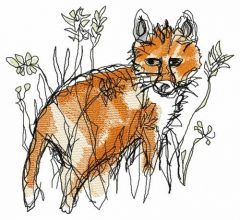 Fox hunting embroidery design