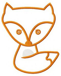 Fox embroidery design