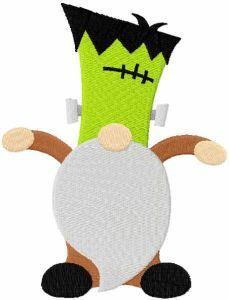 Frankenstein dwarf embroidery design