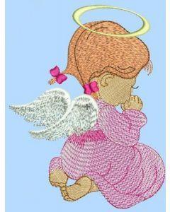 Little cute Angel free machine embroidery design