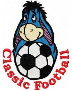 Eeyore Classic Football Logo embroidery design