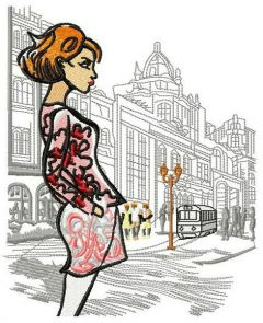 French fashion embroidery design