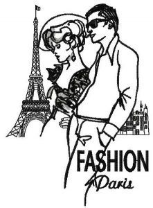 French fashion 2 embroidery design