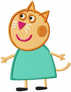 Friend Candy Cat embroidery design