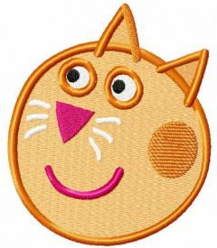 Friend Candy Cat muzzle embroidery design