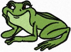 Happy Frog embroidery design