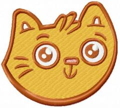 Funny cat face 4 embroidery design