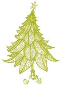 Funny Christmas tree embroidery design 2