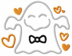 Funny ghost embroidery design