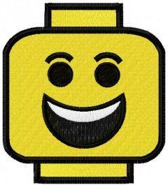 Funny Lego Block embroidery design