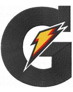 Gatorade logo embroidery design