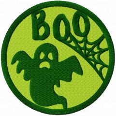 Ghost badge free embroidery design