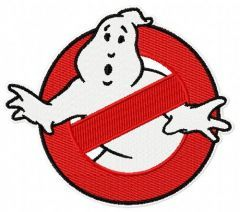 Ghostbusters logo embroidery design