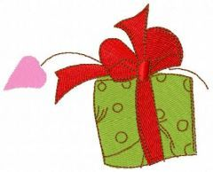 Gift for St. Valentine's Day embroidery design