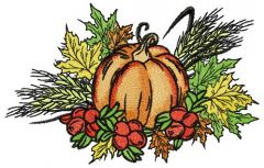 Gifts of autumn embroidery design