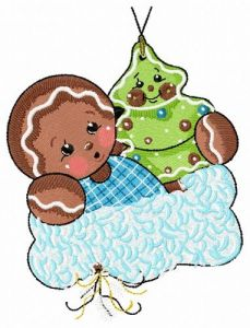 Gingerbread boy 5 embroidery design