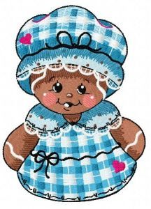 Gingerbread granny 2 embroidery design