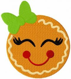 Gingerbread smile free embroidery design