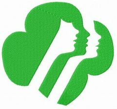 Girl Scouts of the USA logo embroidery design