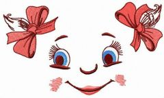 Girl's face embroidery design