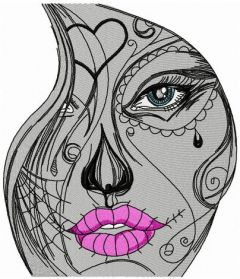 Girls's tears embroidery design