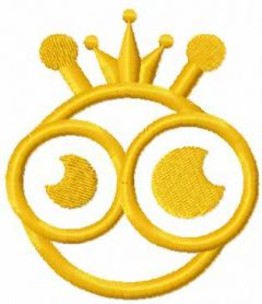Gold bee king 3 embroidery design