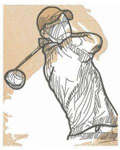 Golfer 3 embroidery design