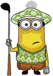 Golfing Minion embroidery design