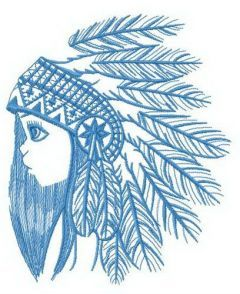 Granddaughter of tribal chief embroidery design