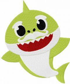 Grandpa Shark embroidery design