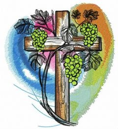 Grapevine on cemetery embroidery design