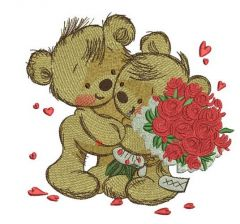 Great bouquet for my teddy embroidery design