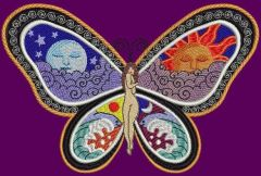 Fantastic Butterfly Night and Day embroidery design