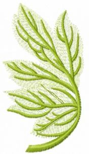 Green spring branch embroidery design