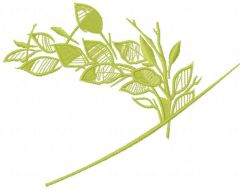 Green branch 15 embroidery design