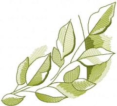 Green branch 4 embroidery design