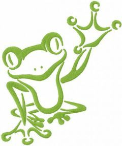 Tribal green frog free embroidery design