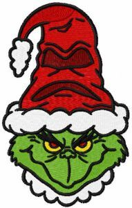 Grinch harry potter style embroidery design
