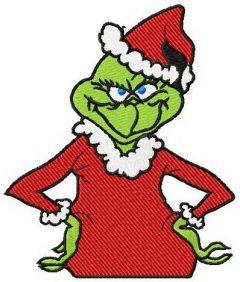 Grinch embroidery design