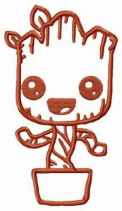 Groot just born embroidery design