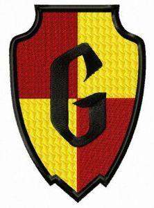Gryffindor badge embroidery design