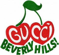 Gucci Beverly hills logo embroidery design