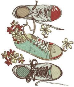 Gumshoes embroidery design