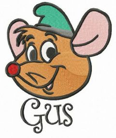 Gus embroidery design