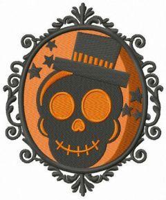 Halloween portrait embroidery design